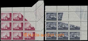 173187 - 1941-1942 Mi.52, 99A, Krajinky 2K červená a 12,50K fialově -
