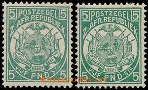 173314 - 1885-1893 REPRINT od SG.187, 2x £5 zelená z r. 1911; na