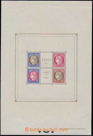 173319 - 1937 Bl.3, aršík výstava PEXIP, svěží aršík bez nálepky, s d
