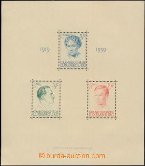 173322 - 1939 Mi.Bl.3, aršík 20 let vlády Velkokněžny Charlotty, kat.