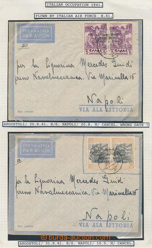 173341 - 1941 CEFALONIA a ITHAKA - italská okupace, provizorní vydání