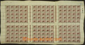 173342 - 1922 Mi.144, Válečné oběti 2c+1c, kompletní arch včetně okra