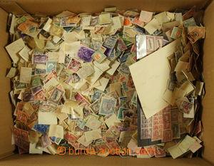 173350 - 1880-1990 [SBÍRKY]  krabice sypaných známek Maďarska, různé
