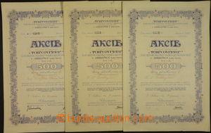 173357 - 1920 ČSR I.  sestava 3ks akcií TCHECOVERRE Česká obchodní sp