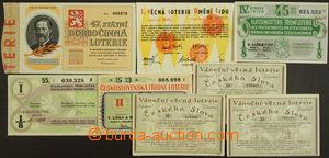 173383 - 1926-53 sestava 8ks losů, mj. Vánoční věcná loterie Českého