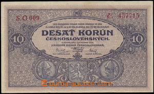 173558 - 1927 Ba.22a, 10Kč, série O 009; kvalita 3, vzácná série