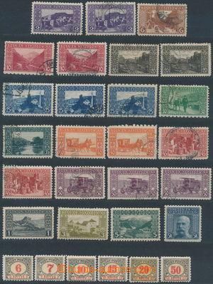173562 - 1904-6 sestava 29ks zn. s odlišným zoubkováním, emise Krajin