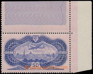 173575 - 1936 Mi.321, Letecká 50F bankovka, pravý horní rohový kus s