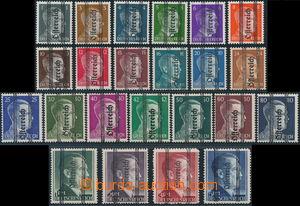 173581 - 1945 Mi.674-692, 693-696 II, přetiskové vydání Österreich, s