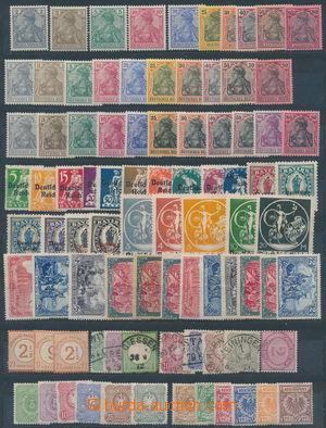 173582 - 1872-1920 sestava vybraných sérií a známek na kartě A4, obsa