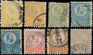 173634 - 1871 Mi.1-6, FJ I. 2Kr-25Kr, kamenotisk, 8ks, hodnoty 2Kr a