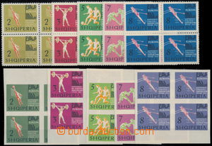 173657 - 1963 Mi.763-767, 768-772, Sport, zoubkovaná a nezoubkovaná s