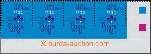 173718 - 2007 Pof.514VV, PRAGA 2008 11Kč, pravá rohová vodorovná 4-pá