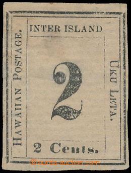 173807 - 1863 Sc.16, Číslicové vydání 2C černá na šedobílém papíru; b