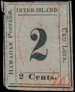 173808 - 1863 Sc.16, Číslicové vydání 2C černá na šedobílém papíru, č