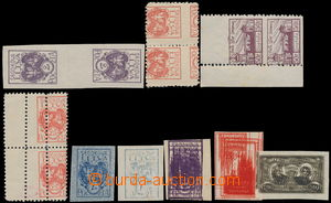 173815 - 1920 STŘEDNÍ LITVA  sestava 9ks nebo 2-pásek s dvojitými tis
