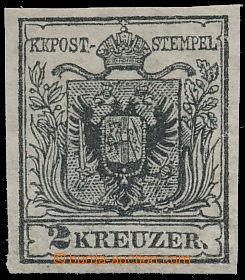 173820 - 1850 Mi.2X, Ferch.2HPIIIa, Znak 2Kr černá, typ IIIa ruční pa