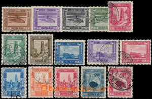 173825 - 1935 SOMÁLSKO, Sass.213-227, Pittorica 5C-5Lire, mj. se vzác