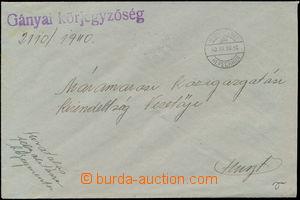 173865 - 1940 NERESNICA  služební zásilka s maďarským DR ALSÓNERESZNI