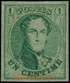 173877 - 1861 Mi.6II, Leopold I. 1C zelená, pěkný střih; kat. 220€