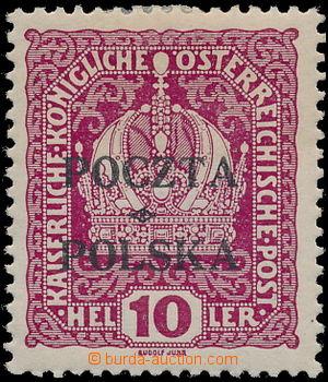173879 - 1919 Mi.32, Fisher 33, Krakovské vydání Koruna 10h fialová s