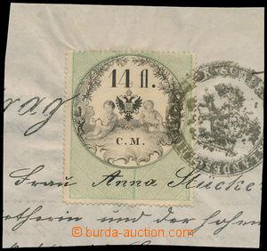 173889 - 1854 HABSBURSKÁ MONARCHIE  výstřižek záhlaví listiny s kolem