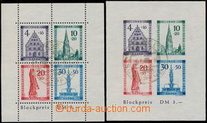 173925 - 1949 FRANZÖSISCHE ZONE - BADEN  Mi.Bl.1A + 1B, aršíky Obnova