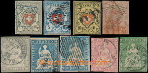 174007 - 1854 Mi.6I, 9II, 8II, 12, 14II (2), 15II, 17II, sestava 9ks