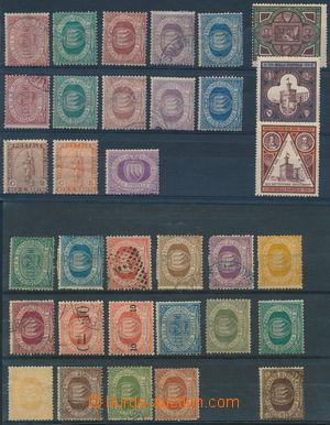 174010 - 1877-1894 sestava 33ks, mj. Sass.1-7, 7(*), 10-11, 21, různ