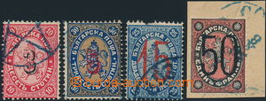174012 - 1884 Mi.21-24, Lev, přetisky 3St/10St - 50St/1Fr; Mi.23 pošk