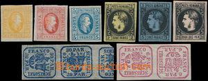 174019 - 1862-1866 Mi.9 a 10, obojí pootočené páry o 90°, Mi.11-13, 1