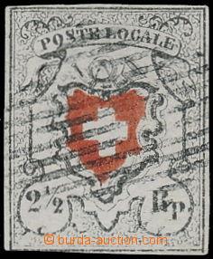 174036 - 1851 Mi.6II, Poste Locale 2½Rp KŘÍŽ BEZ ORÁMOVÁNÍ