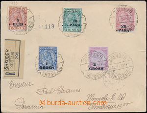 174244 - 1914 R-dopis adresovaný do Německa, vyfr. přetiskovými zn. 5
