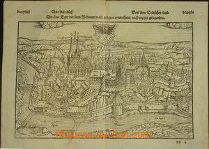 174438 - 1560-80? CHEB (Eger) - mapa města, dřevoryt, dle předlohy Se