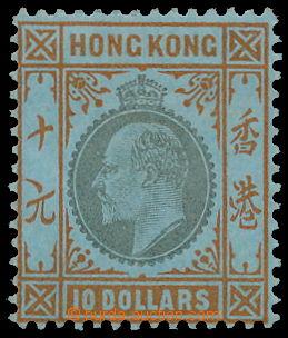 174758 - 1904-1906 SG.90, Edvard VII. $10; průsvitka Multiple CA, kon