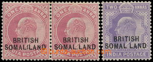 174859 - 1903 SG.26d, 27d, indické Edvard VII. 1 Anna (2-páska), 2 An