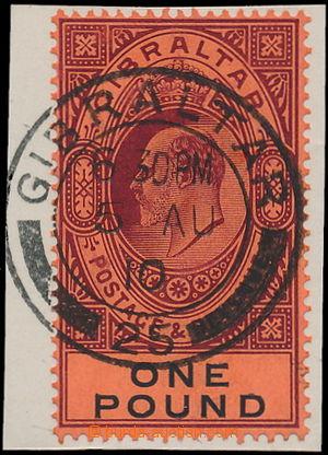 174886 - 1904-1908 SG.64, Edvard VII. 1£ tmavě purpurová a če