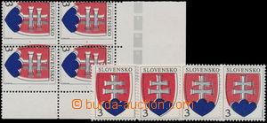 174989 - 1993 Zsf.2, Malý státní znak, rohový 4-blok + 4 samostatné z