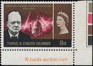 175063 - 1966 SG.264a, Churchill 8P, rohový kus, ZLATÝ TISK DVOJIT�
