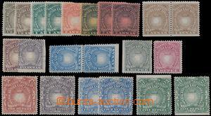 175079 - 1890-1895 SG.4-19 bez SG.13, Light nad Liberty, 22 hodnot 1/