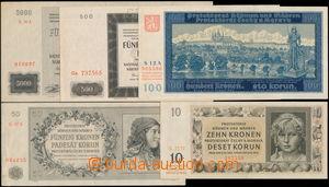 175287 - 1940-44 sestava 5ks bankovek, obsahuje Ba.32, 36 Specimen, 3