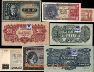 175288 - 1926-45 sestava 8/ks bankovek, obsahuje Ba.21b Specimen, 56