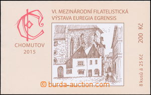 175362 - 2015 stamp-booklet  Exhibition CHOMUTOV 2015, on reverse 2 h