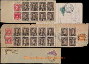 175667 - 1918 sestava 4ks celistvostí s předběžnými a souběžnými fran