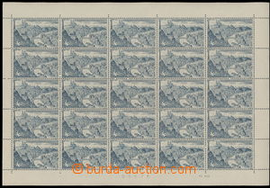 175738 - 1955 Pof.PA L41, 10Kčs Prague, complete 25 pcs of sheet with