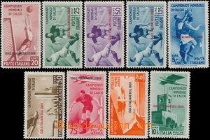 175822 - 1934 Mi.137-145, MS v kopané, kompletní série včetně letecký