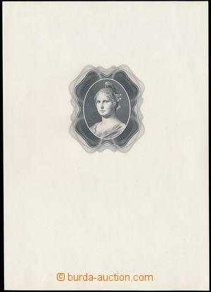 175825 - 1940 M. Švabinský: Grafický návrh na bankovku 100 K, ocelory