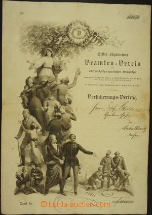 176123 - 1865-95 HABSBURSKÁ MONARCHIE / BEAMTEN-VEREIN - VERSICHERUNG