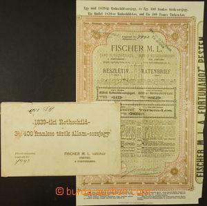 176150 - 1871 UHERSKO  los bankovní a směnárenské firmy Fischer M.L.