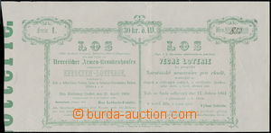 176156 - 1864 HABSBURSKÁ MONARCHIE  los hodnoty 30Kr Věcné loterie ku